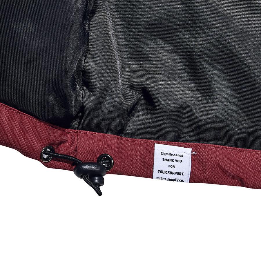 큐마일(QMILE) 1617 더 플레이어 스타디움 자켓 버건디